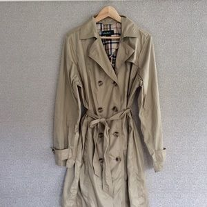 XL Tall Eddie Bauer Nylon Trench Coat